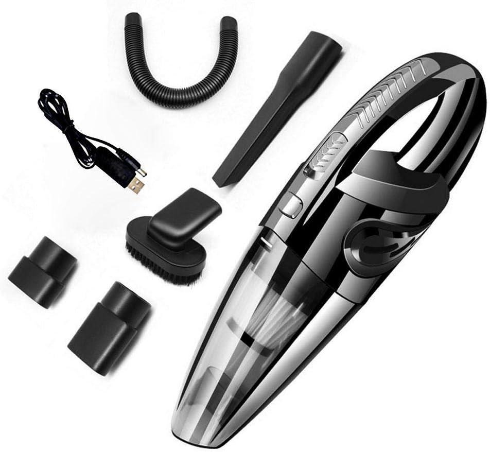 Womdee aspiradora inalámbrica de mano recargable para coche, aspiradora interior de coche, aspirador mojado/seco, batería de 120 W 3500 mAh, para limpieza interior de coche/hogar, 7 en 1, color negro: Amazon.es: Hogar