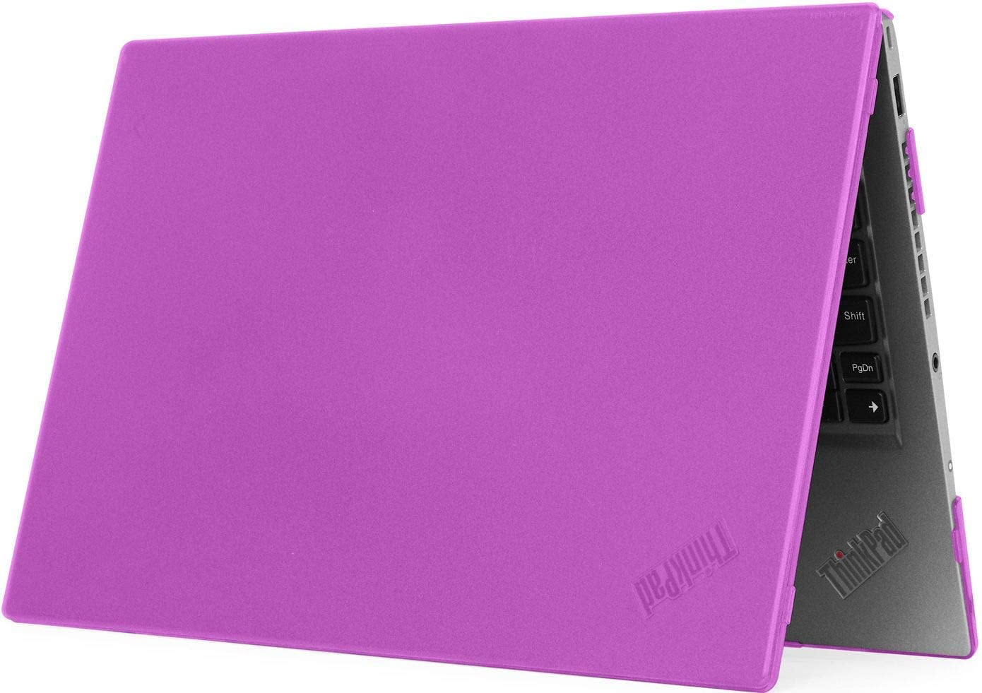 """mCover Hard Shell Case for 2020 14"""" Lenovo ThinkPad T490 Series Laptop Computer (Purple)"""