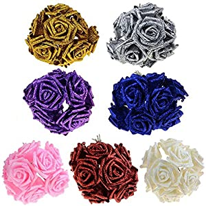 10PCS/LOT Artificial Fake Foam Rose Flowers Bridal Wedding Bouquet Bunch Home Decor 38