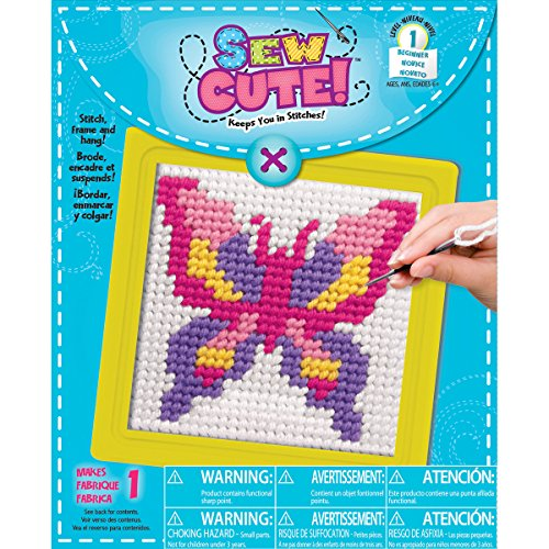 Sew Cute! Learn To Sew Needlepoint Kit-Butterfly