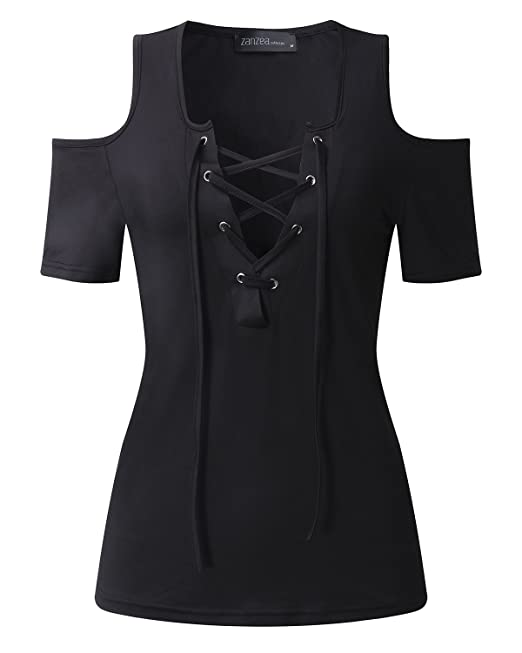 ZANZEA Mujeres Damas Oficina Elegante Blusa Camiseta Casual Abotonada Cuello Abotonado Mangas Cortas (EU 50