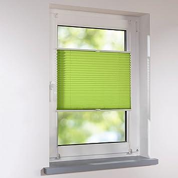 Affordable Plissee X Cm Grn Verspannt Klemmfix Ohne Bohren Faltrollo Raffrollo Sonnen Sichtschutz With 50