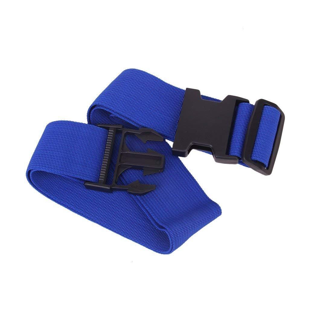 XSM Pratique et Pratique r/églable Bagage Sangle de Fixation Valise Ceinture Sacoche Bleu Fonc/é