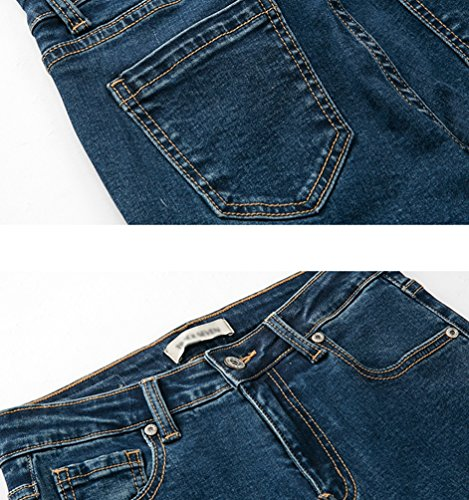 Blu Vita Donna Denim Carota In Skinny A Slim Up Da Alta Strench Di Pantaloni Fit Jeans Zhiyuanan Push UYqTwtAT