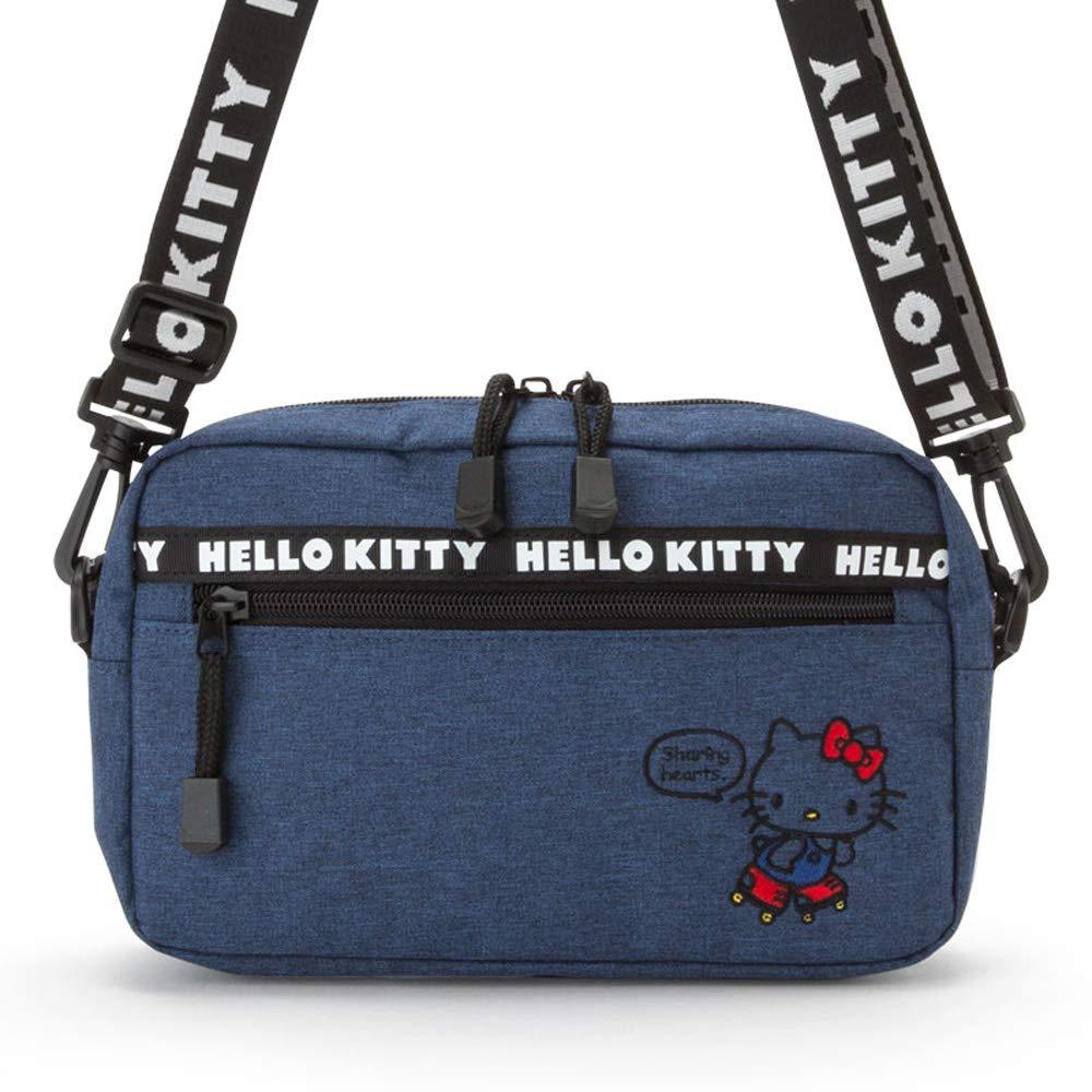 09f9b787c Amazon.com: Sanrio Hello Kitty Sacoche Messenger Bag Shoulder Bag 24x15x6cm Navy  Blue Polyester Japan Import 810754: Toys & Games