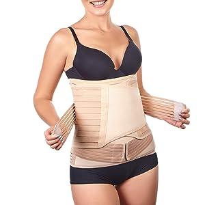 3 in 1 Postpartum Belly Support Recovery Wrap - Belly Band for Postnatal, Pregnancy, Maternity - Girdles for Women Body Shaper - Tummy Bandit Waist Shapewear Belt