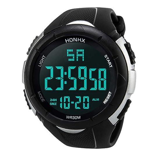 Modaworld Relojes Pulsera Hombre, Relojes Deportivos analógicos Digitales para Hombres Reloj LED Impermeable Lujo Reloj Deportivo Hombre: Amazon.es: Relojes