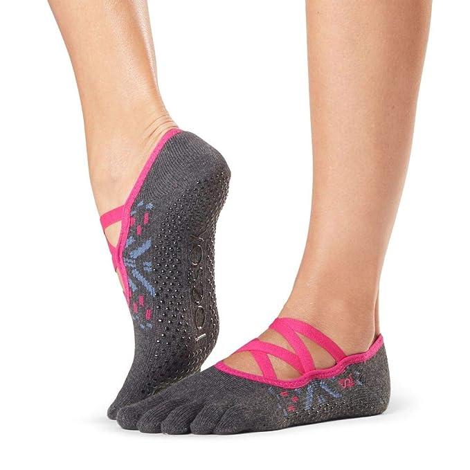 Amazon.com: ToeSox Grip Pilates Barre Socks - Antideslizante ...