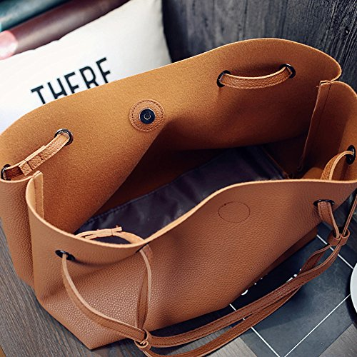 For Matching With Bag Shoulder Vintage Leather Girls Women Large Tote Purse Handbag Retro Jinberry Big Red And qfgIwSq