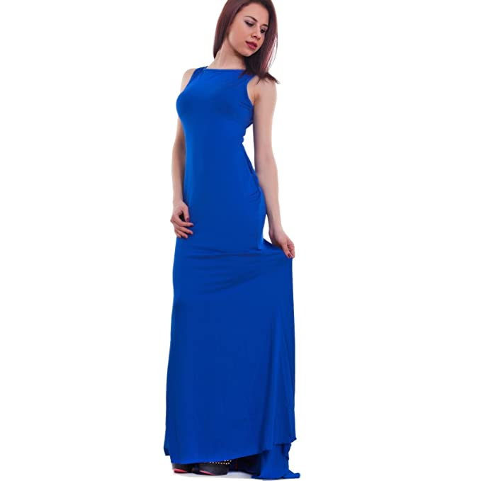 b1222cbf4bac Toocool - Vestito Lungo Donna Elegante Abito Cerimonia Party Strascico  Nuovo DL-1389[Blu Elettrico,M]: Amazon.it: Abbigliamento