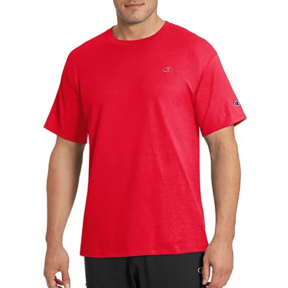 8e974018b48b Image Unavailable. Image not available for. Colour: Champion Men's Classic Jersey  T-Shirt Scarlet