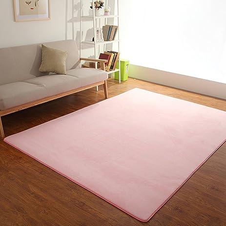 Amazon.com: Short Velvet Living Room Carpet Bedroom Soft Shag Area ...