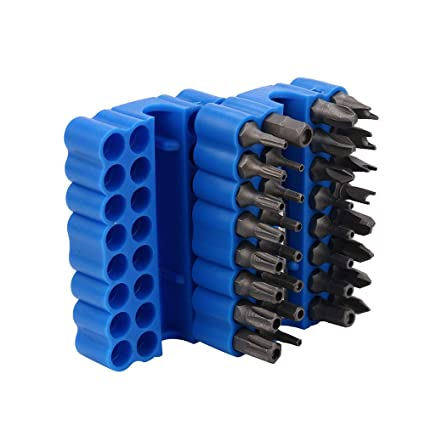33-Piece Security Bit Set with Magnetic Extension Bit Holder ...