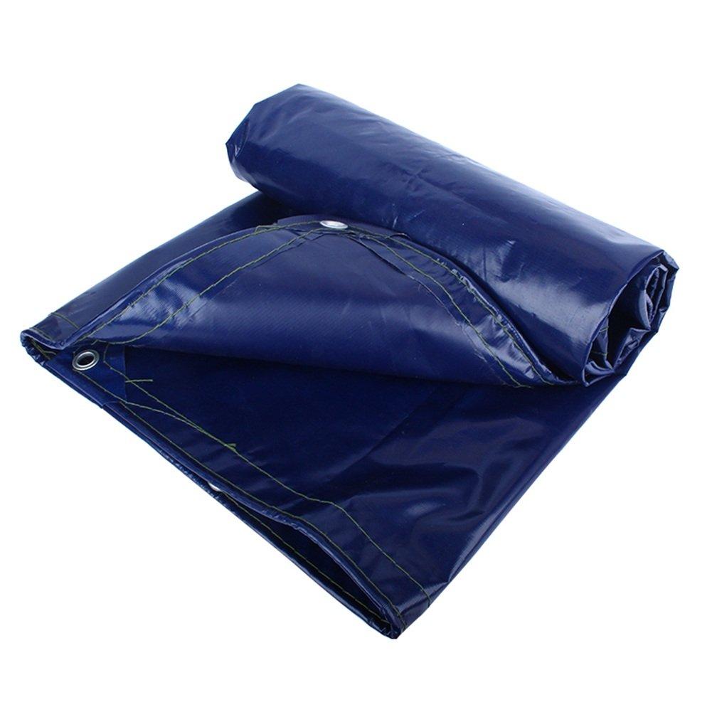 ZEMIN オーニング サンシェード ターポリン 防水 日焼け止め テント シート ルーフ 防寒対策 老化防止 ポリエステル、 青、 550G/M²、 18サイズあり (色 : 青, サイズ さいず : 4X8M) B07DBNVW52  青 4X8M