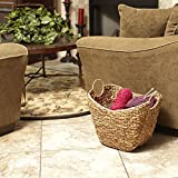 Household-Essentials-Tall-Water-Hyacinth-Wicker-Basket-with-Handles
