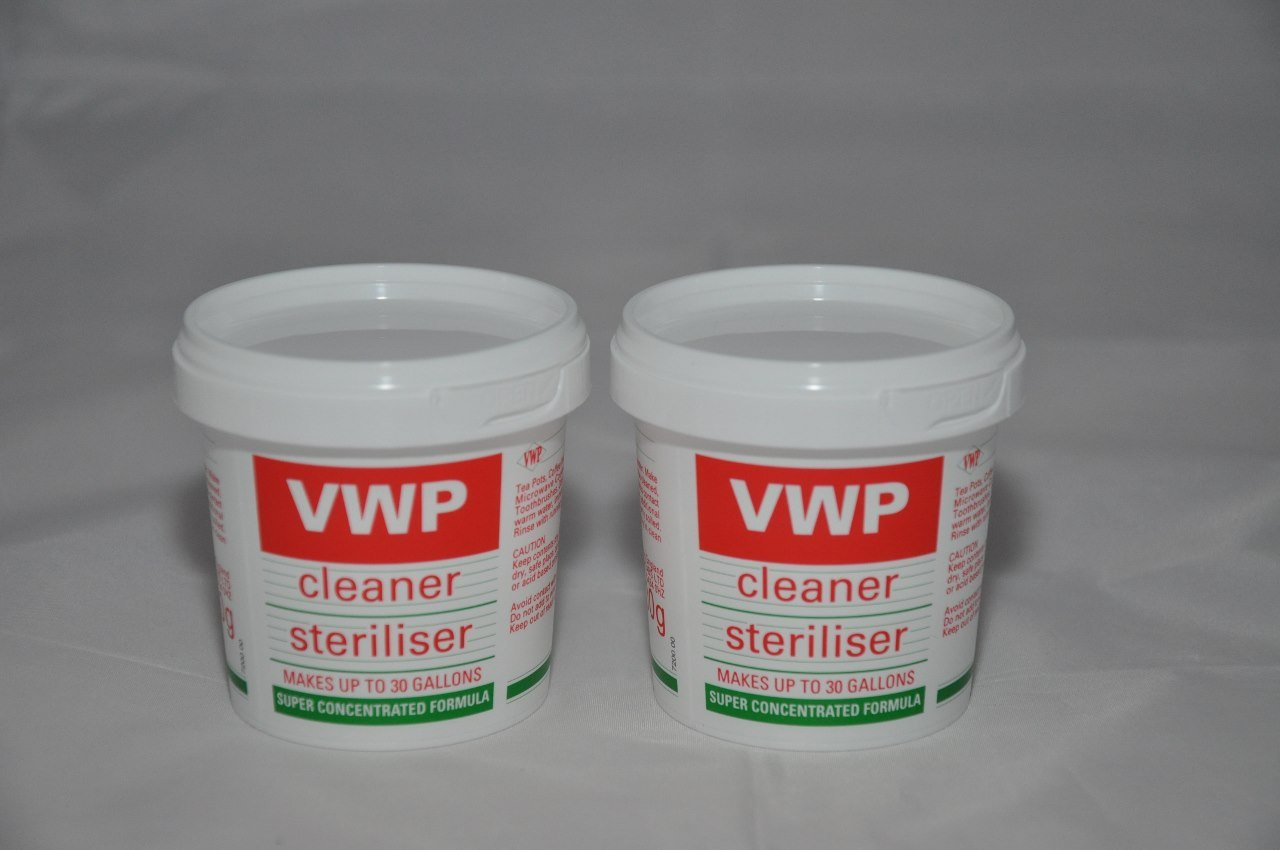 2 x VWP Cleaner / Steriliser For Home Brew Beer Wine or Cider Making Home Brewers Heaven Ltd