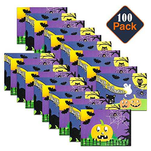 Halloween Goody Bags For Toddlers (Halloween Party Favors Bulk Pack for Classroom Kids Toddlers -- 100 Halloween Coloring and Activity Books with Puzzles, Mazes and Games (Halloween Goody Bag Toys)
