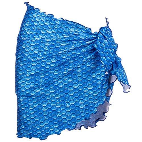 fantasia sirena donna Pareo a Blu squame Ghiaccio Fin con da Mermaidens Fun Uqw4qSXp