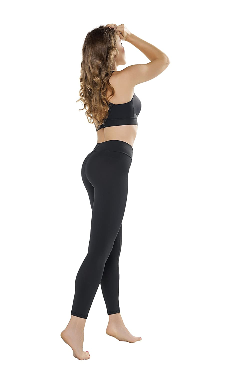 61fea184f314b gWINNER Women's Ladies Sport Comfort Soft Fitness Gym Yoga Spinning Push Up  Anti Cellulite Black Leggings: Amazon.co.uk: Clothing