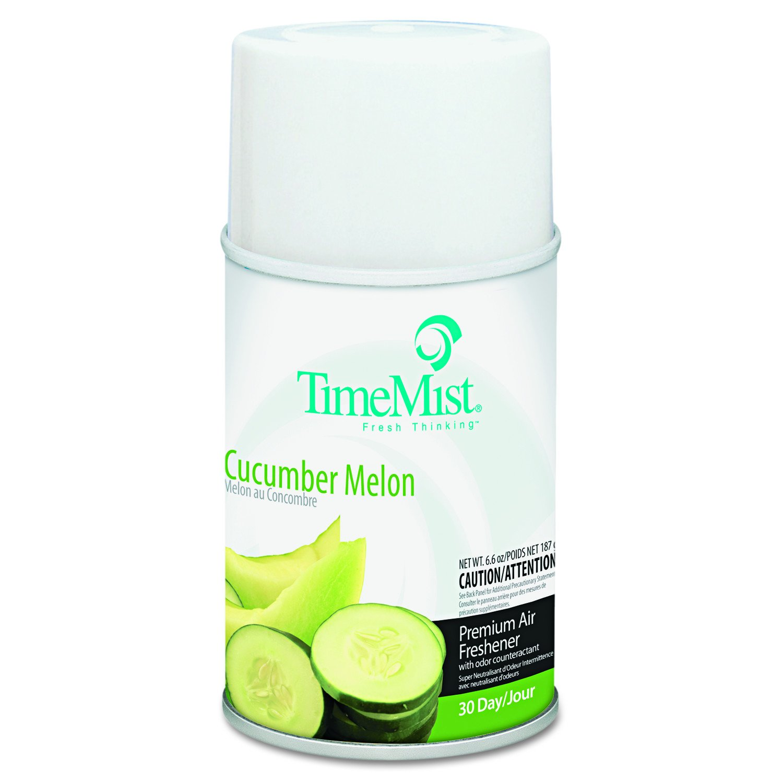 TimeMist 1042677 Metered Fragrance Dispenser Refill, Cucumber Melon, 6.6oz, Aerosol (Case of 12)