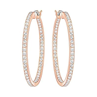 Image Unavailable. Image not available for. Color  Swarovski Sommerset  Pierced Hoop Earrings aa978abd8b5d