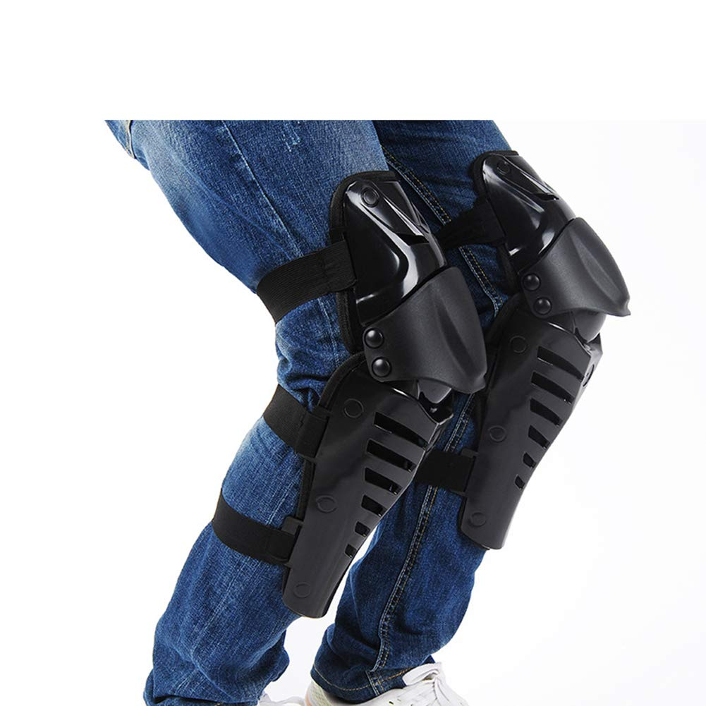 SULAITE Knee Pads Red Long Leg Sleeve Protective Gear Knee Shin Armor Protect Guards Pads Body Armor for Motocross Outdoor Off-Road Safty MTB Knight Gear