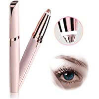 Eyebrow Hair Remover, Painless Portable Precision Electric Eyebrow Hair Trimmer, Women's Painless Brows and Facial Hair Trimmer for Nose, Eyebrow Hair, Battery Not Included 【Rose Gold】