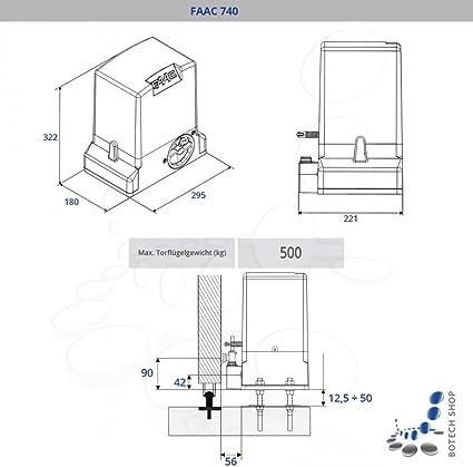 Motor para puertas correderas FAAC 740: Amazon.es: Iluminación