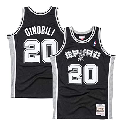best website d2801 ad3fb Amazon.com : Mitchell & Ness Manu Ginobili San Antonio Spurs ...