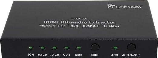 Feintech Vax01201 Hdmi Hd Audio Extractor 7 1 Arc Dolby Elektronik