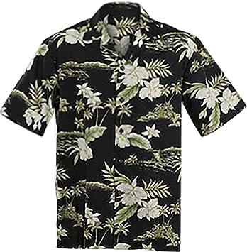 Camiseta Hawaiana original de Aloha, para hombre, tallas M-7XL, diseño moderno, bolsillo frontal, alta calidad, 100% algodón: Amazon.es: Ropa y accesorios