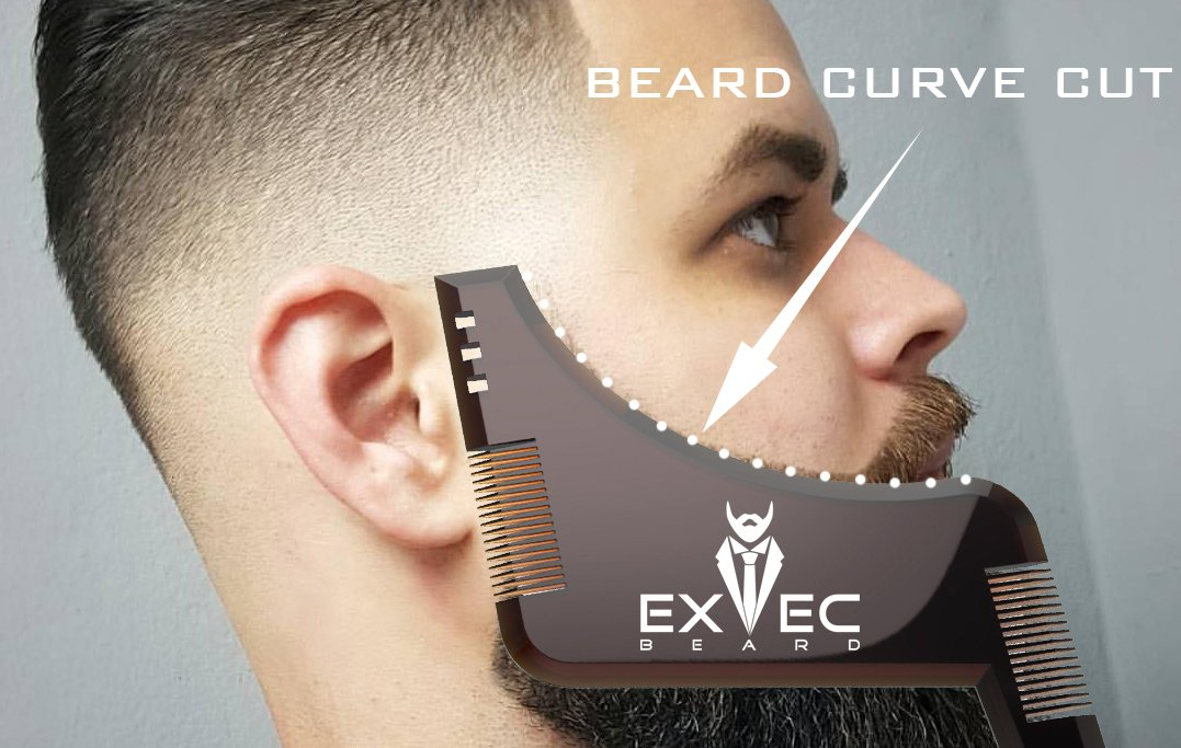 Beard Bro Shaping Tool Man Trim Template Hair Cut Molding Stainless Steel Modelling In Party Favors From Home Garden On