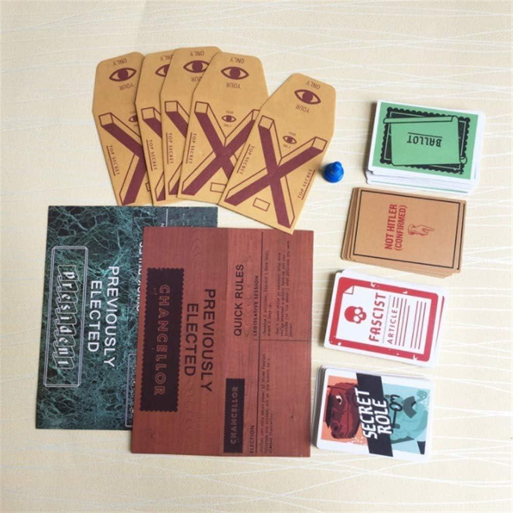 J.funyear Secret Hitler El Secreto de Hitler Juego de Mesa Cartas-UN Juego de Fiesta Que Necesita Ocultar su Identidad: Amazon.es: Juguetes y juegos