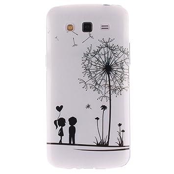 KATUMO Carcasa Transparent Samsung Galaxy Grand 2 SM-G7106/G7102 /G7105, Funda Silicona para Galaxy Grand 2 Cubierta Carcasa Goma Case Cover Funda ...