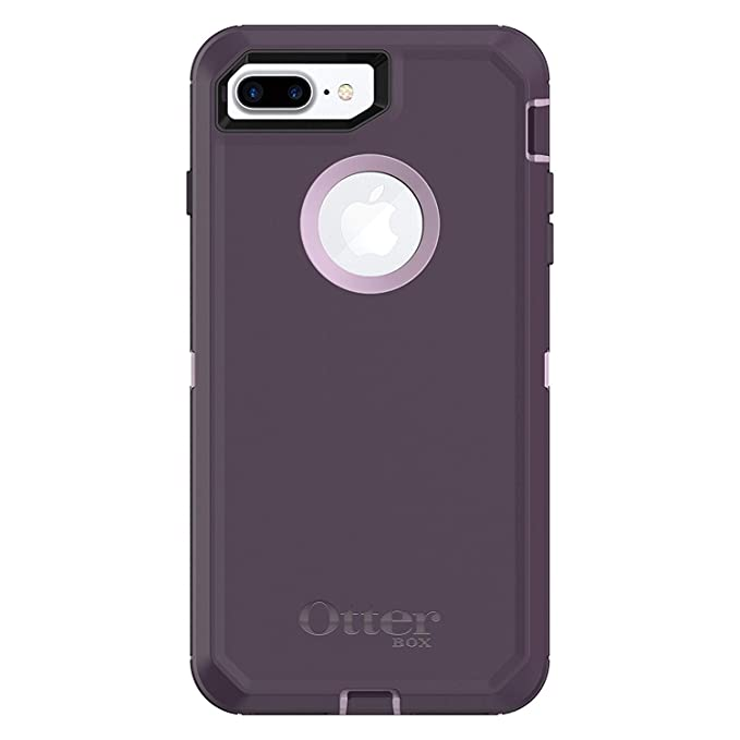 quality design fbf28 d8ce0 Rugged Protection OtterBox Defender Case for iPhone 8 Plus and iPhone 7  Plus (ONLY) - Bulk Packaging - (Pale Beige/Plum Haze)