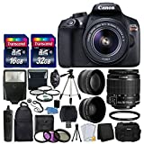 Canon EOS Rebel T6 Digital SLR Camera & 18-55mm EF-S f/3.5-5.6 is II Lens + Wide Angle Lens + 2X Lens + Macro Filter Kit + Flash + Tripod + Remote + Backpack + 48GB SDHC Memory Card + Complete Kit