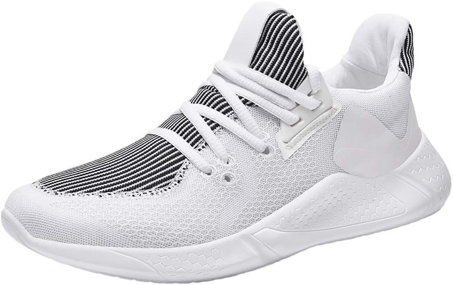 Elecenty Zapatos de Cordones para Hombre Mosca Tejida de Malla ...