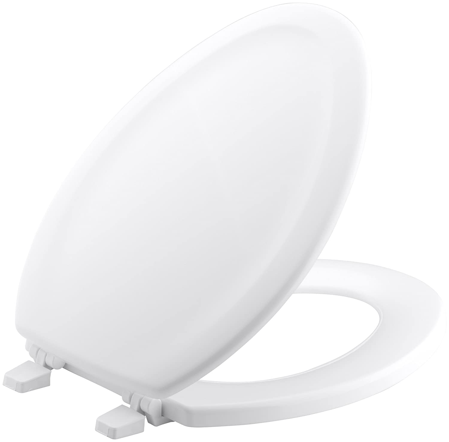 KOHLER K 4647 0 Stonewood Molded Wood with Color Matched Plastic Hinges  Elongated Toilet Seat  White     Amazon comKOHLER K 4647 0 Stonewood Molded Wood with Color Matched Plastic  . D Shaped Wooden Toilet Seat. Home Design Ideas