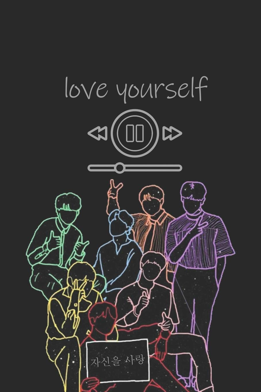 Bts Love Yourself Song Played Journal Cover K Pop 110 Lined Pages Journal Notebook Kpop Accessories Kpop Gift