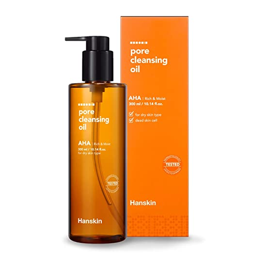 Hanskin Pore Cleansing Oil, Gentle Blackhead Cleanser and Makeup Remover for Dry Skin - Official 2019...