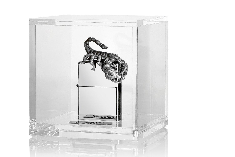 Zippo, Accendino, Argento, motivo: Scorpione, acciaio INOX lucidato 2.004.582
