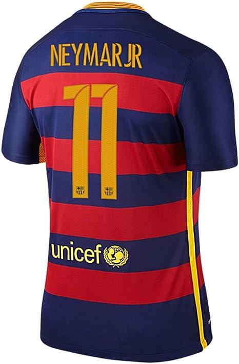 Nike NEYMAR JR. #11 Barcelona FC Camiseta 1ra 2015/2016 Juventud (Tamaño De Los EE.UU): Amazon.es: Deportes y aire libre