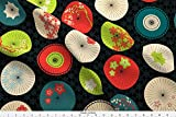 quilting fabric on sale - Umbrellas Fabric Japanese Umbrellas Summer Colors by Pinkowlet Printed on Basic Cotton Ultra Fabric by the Yard by Spoonflower