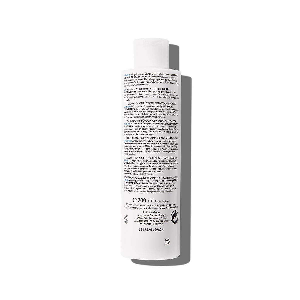 la Roche Posay KERIUM, Champú Complemento Anticaída, 200 ml (3337872411816): Amazon.es