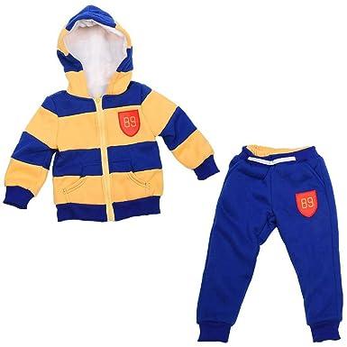 dd7b40bc346b2f bambini Coat Pantaloni - TOOGOO(R) Bambino Sport Giacca Maglione cappotto e  pantaloni di