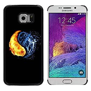 Caucho caso de Shell duro de la cubierta de accesorios de protección BY RAYDREAMMM - Samsung Galaxy S6 EDGE SM-G925 - Yin Yang Elements