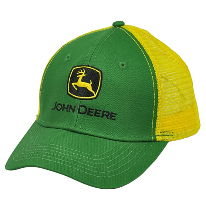 Image Unavailable. Image not available for. Color  John Deere Mesh Snapback Green  Yellow Hat Cap ... bd68d44ba42d
