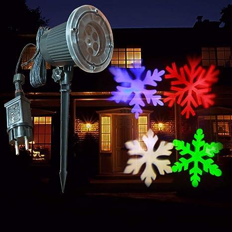 AZZL Navidad Luces de Proyector Estrellas y Santa Claus Proyector ...