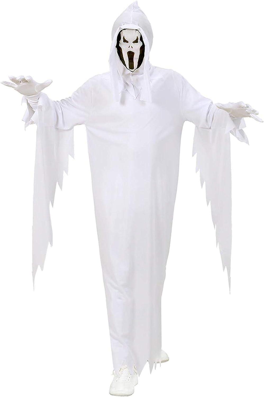 WIDMANN 02536 - Disfraz de niño de fantasma con capa y máscara (talla 128)