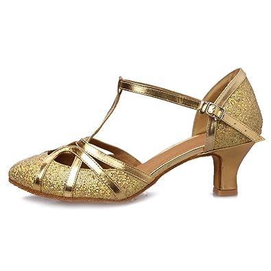 ea27a356a5e06 Roymall Women's Fashion Ballroom Party Glitter Latin Dance Shoes Model  CMJ-511